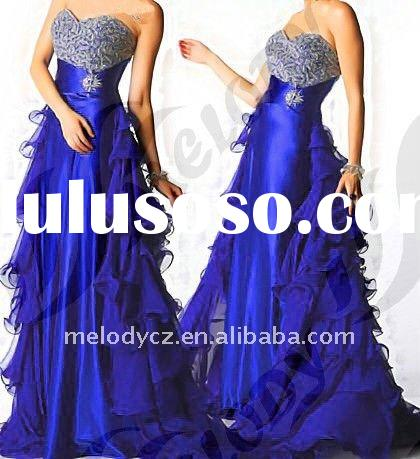 MD146 Long Italian Fashion Royalblue Evening Dresses
