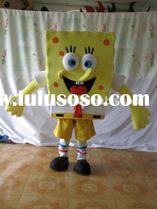 Mascot spongebob adult costume