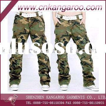 Men's/Ladies' 65% polyester 35%cotton camouflage military pants