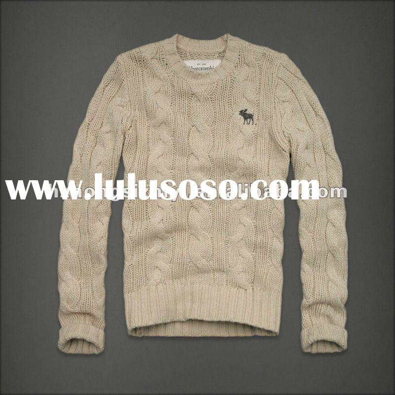 Mens cable knit sweater pullover HSHMP-19