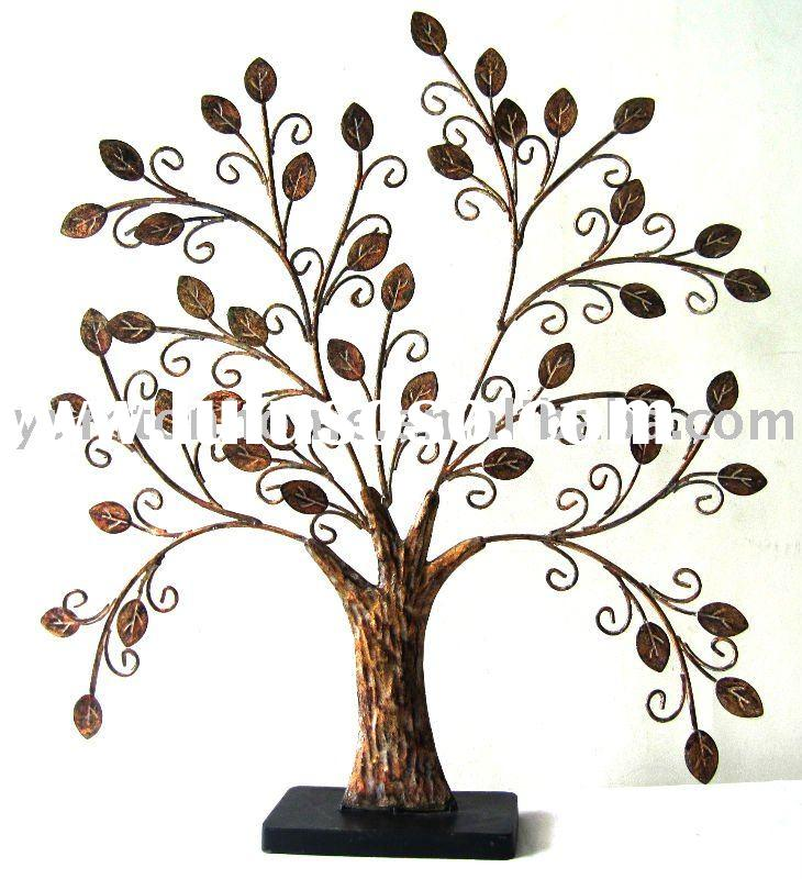Metal Family tree tabletop home decoration