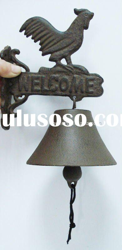 Metal wall hanging door bell, wall mounted metal bell, ring bell, Home & garden decoration
