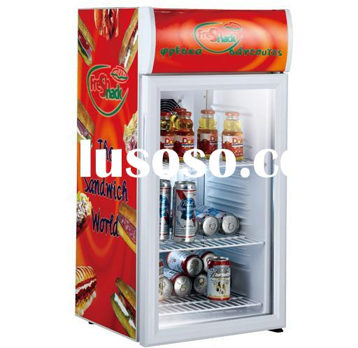 Mini display cooler/ glass door refrigerator/display cooler