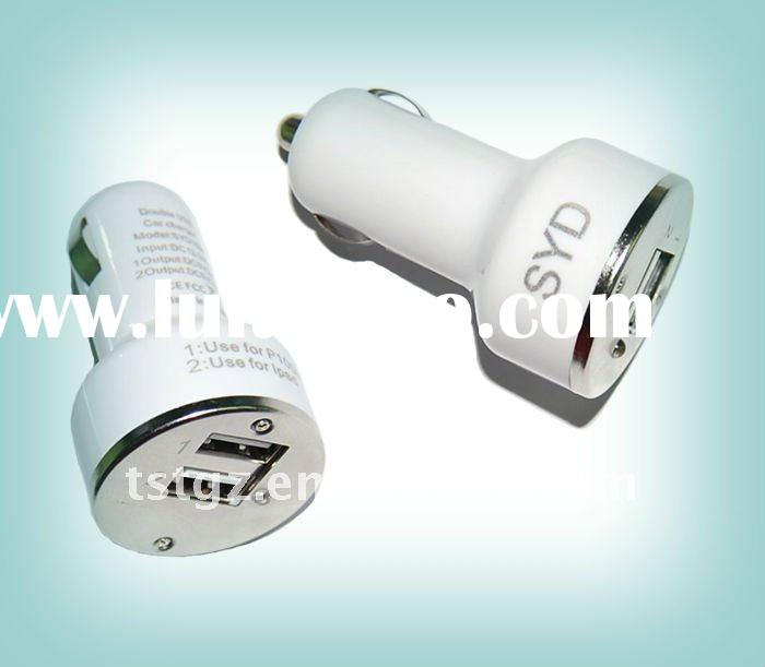 Mini dual USB car charger for iphon, ipa