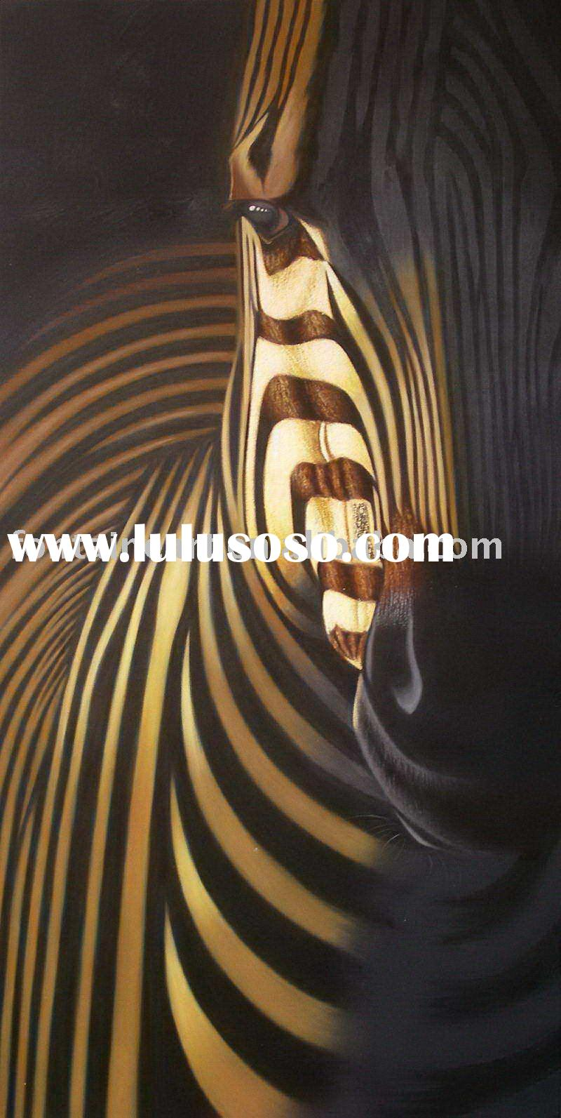 Modern Abstract Zebra Oil Painting