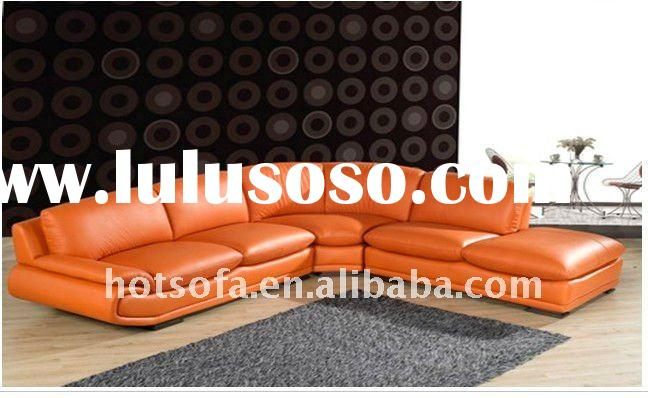 Modern Leather Sectional Sofa Chaise Contemporary Style T626