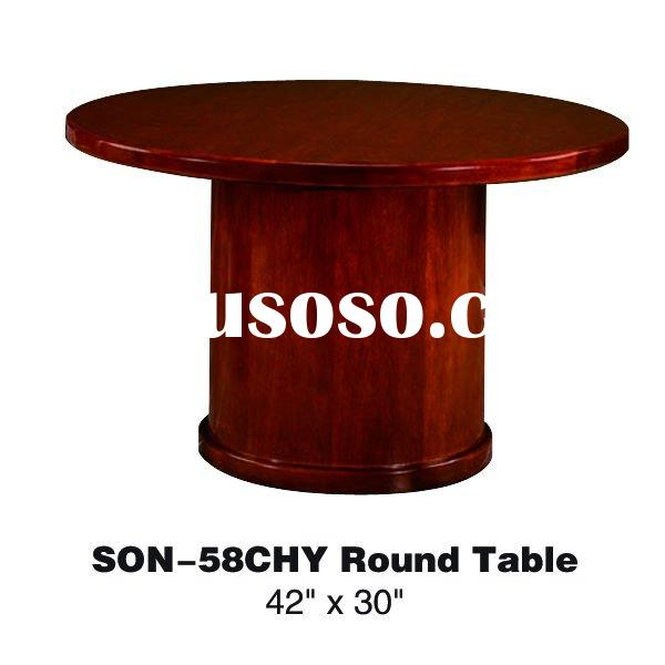 Modern round veneer conference table SON-58CHY