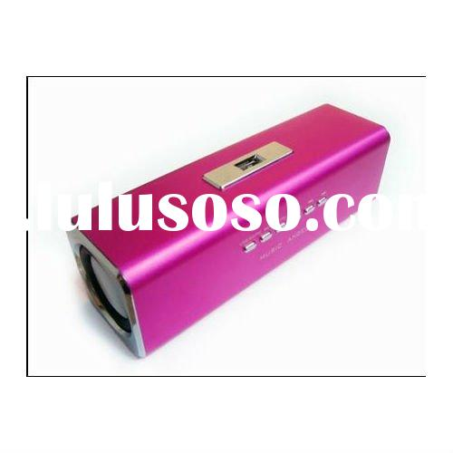 Music Angel speaker Sports MP3 Player Mini Speaker -TF/USB-FM for ipad iphone red color