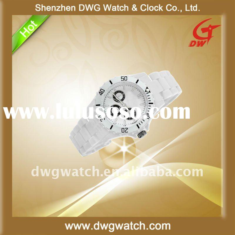 New Quartz Custom Plastic Watch with Stainless Steel Back DWG--P0002-9