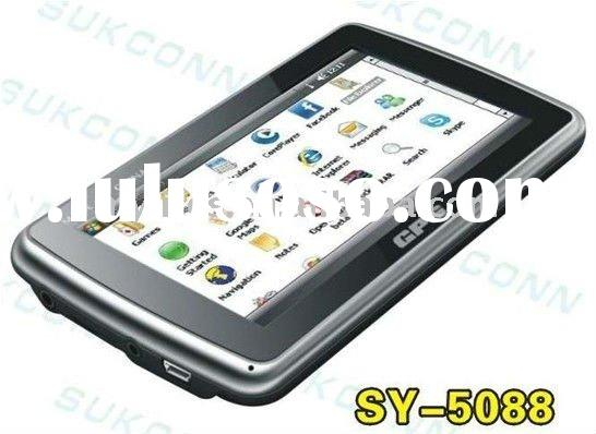 New design 5.0 inch SY-5088W Wifi-Gps with Google Maps,MSN,SKYPE,Internet Explorer,UC,Office Moblie