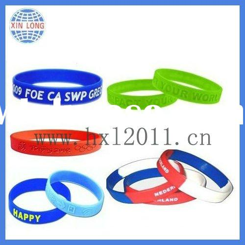 New design funny silicone rubber wristband