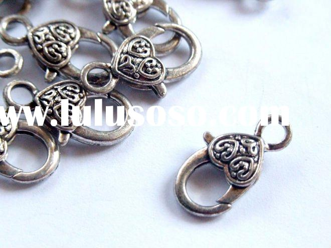 Nickel Free,DIY Jewelry Findings-14x21mm Tibet Silver Lobster Clasp Fit For Charm Bracelet&Neckl