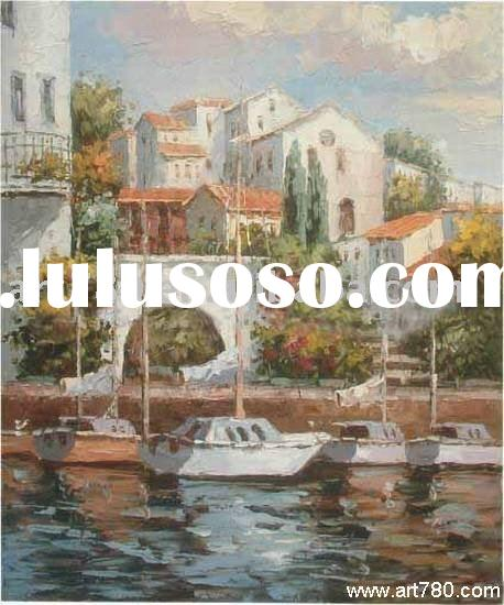 Oil painting pictures,med oil painting,landscape design