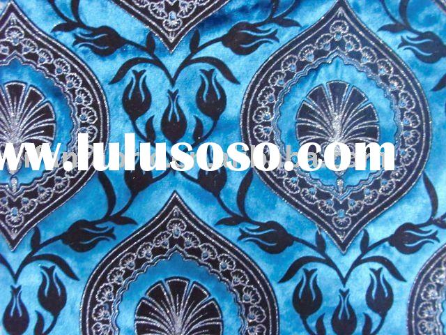 POLYESTER VELVET FABRIC;UPHOLSTERY FABRIC;FLOCKED VELVET FABRIC;SOFA FABRIC;HOME TEXTILE;CURTAIN FAB