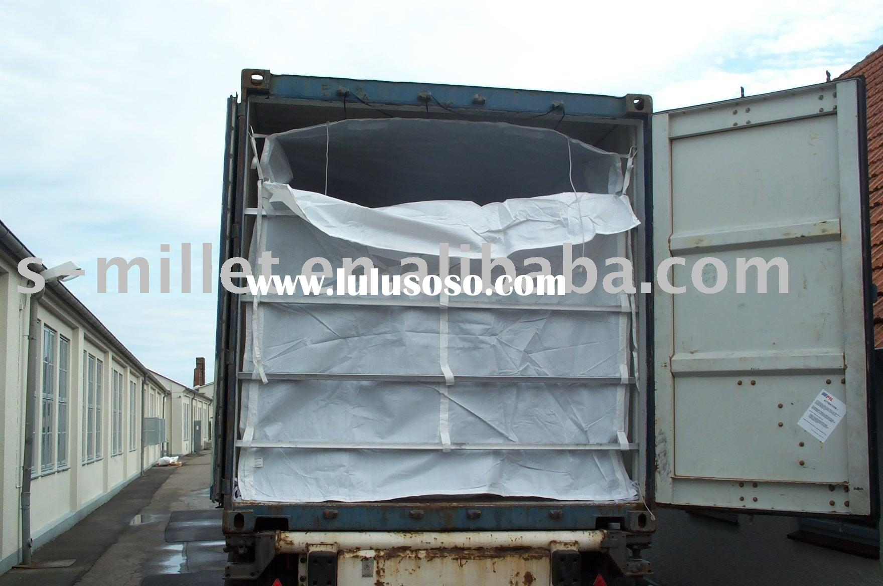PP woven dry bulk container liner bag for 20'/40'