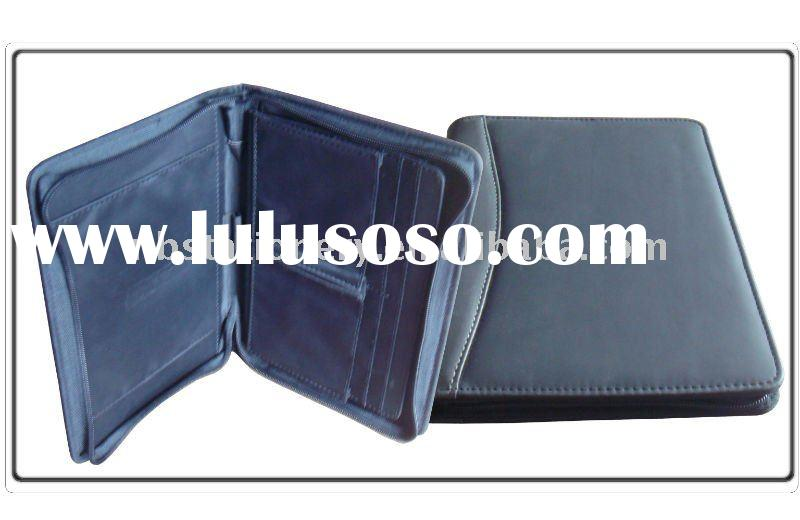 PU cover zipper portfolio