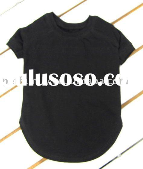 Pet plain shirts wholesale,dog plain t-shirts