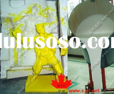 Plaster molds making with silicon rubber