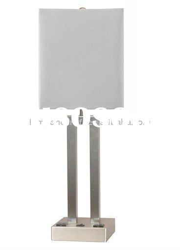 Power Outlet Modern Stainless Steel Hotel Table Lamp For Five Star Hotel