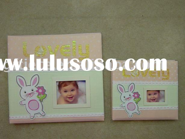 Professional baby scrapbook / baby photo album/ all kinds of paper cover photo album manufacture and