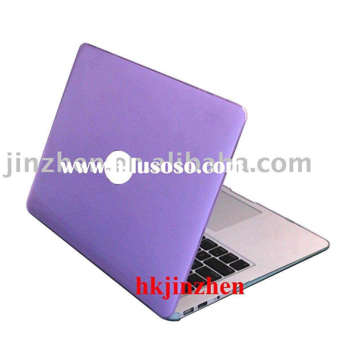 Purple see through hard shell case for macbook air