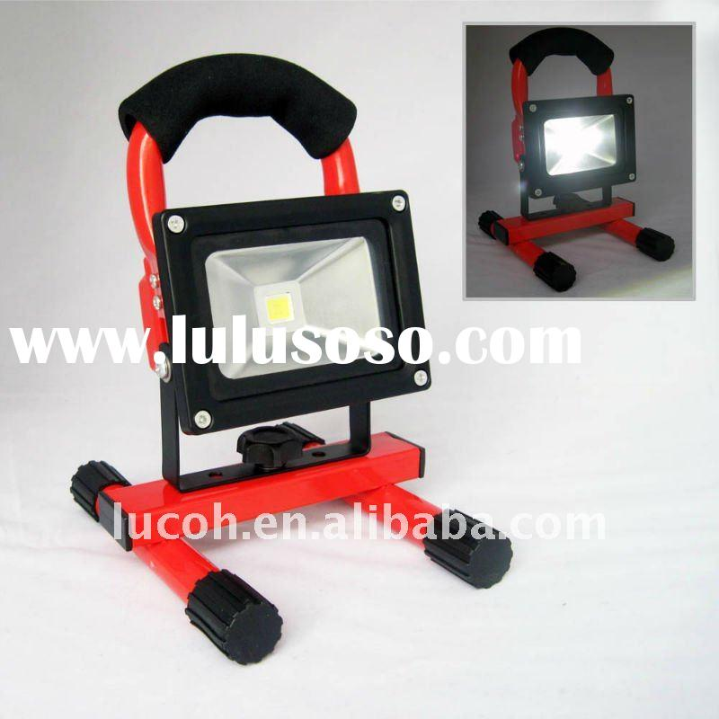 Rechargeable high power LED stand flood beam construction work light