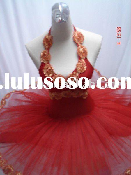 Red stage performance ballet dance costumes/dancewear/ballet tutu
