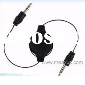 Retractable Audio Aux Cable for iPod iPhone 4 G 4th Gen AUC-3