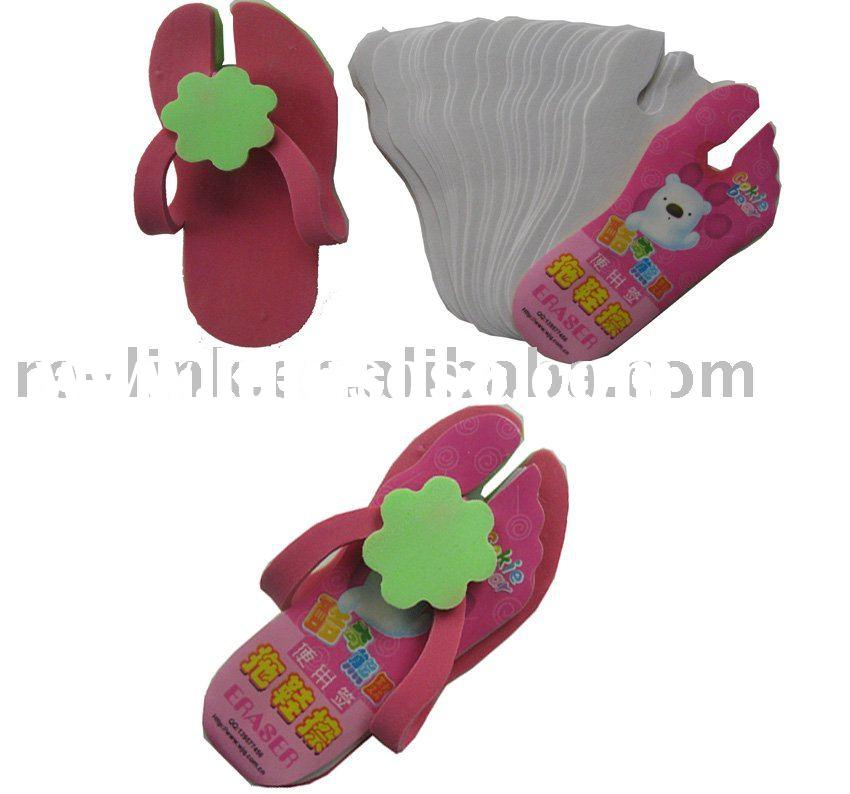 Shoe-shaped Rubber Eraser with notepad