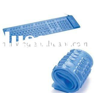 Silicone flexible rolling keyboard AZERTY & QWERTY layout available