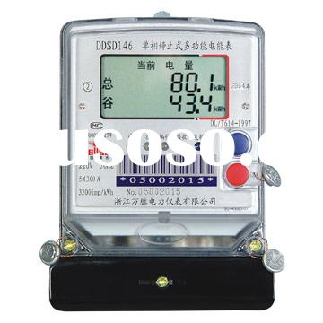 Single-Phase Static Multifunction Electric Energy Meter