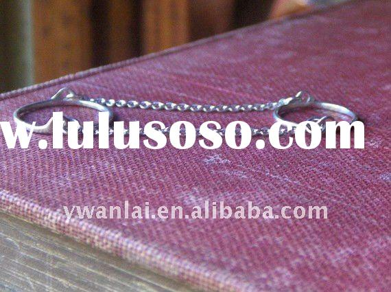 Skinny Bands Sterling Silver Slave Ring and Chains wholesale