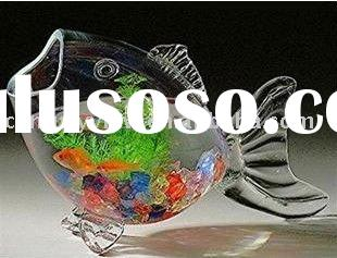 Small order fish shape Glass Fish Bowl