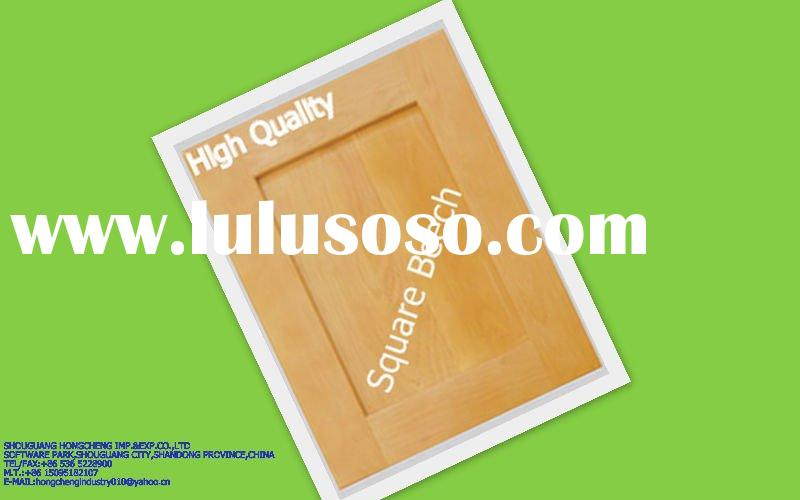 Solid square beech wood kitchen cabinet door