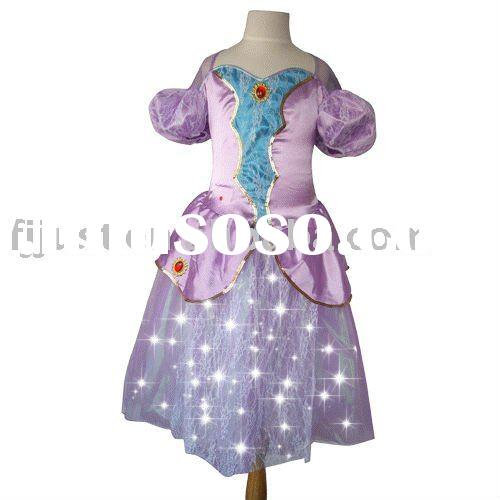 Special Light Up pageant white dresses halloween costumes 2010