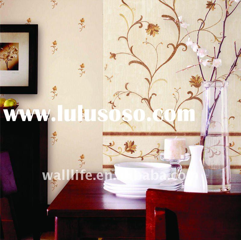 Special design golden wallpaper flower wallpaper