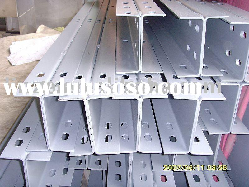 Steel frame,Metal building material,steel construction.