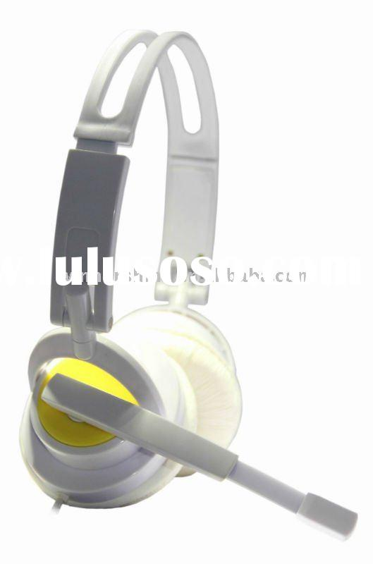 Stereo headset/microphone for computer/mp3/mobile phoe