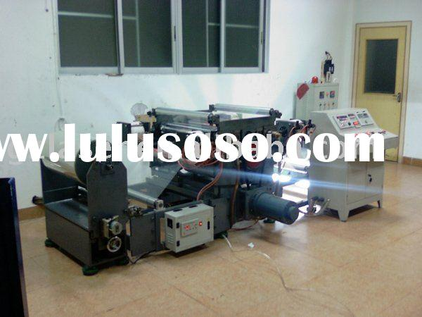 Sticker embossing machine, wide web emboss machine