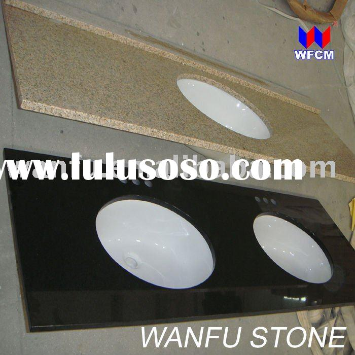 Stone Granite Bathroom Vanity Tops with Ceramic Sink for Supermarket Sale