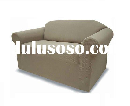Stretch sofa slipcover (Fitted stretch sofa furniture cover with elastic bottom) )