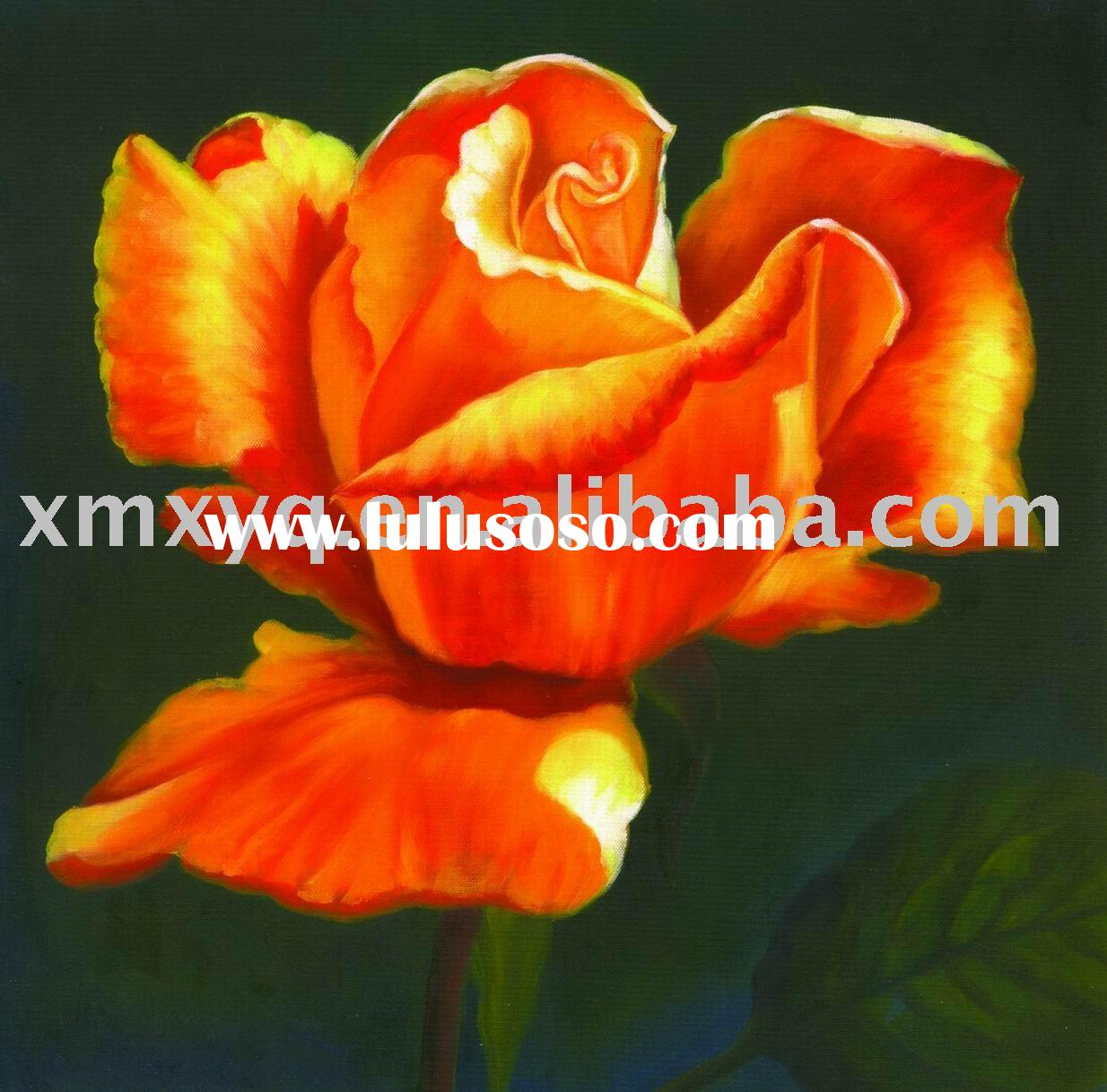 Stretched Flower Canvas Oil Painting