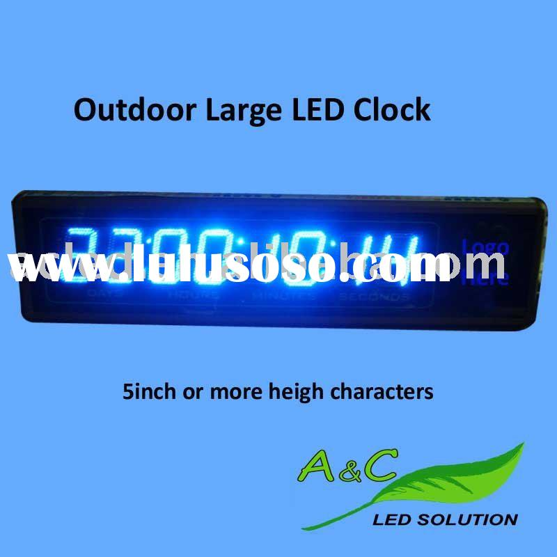 Supply Battery Outdoor/indoor Blue or Red Large LED Digital Clock
