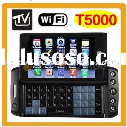 T5000 WIFI TV Dual Sim Card Dual Camera Quad Band Cell Unlocked Mobile Phone With Qwerty Full Keypad