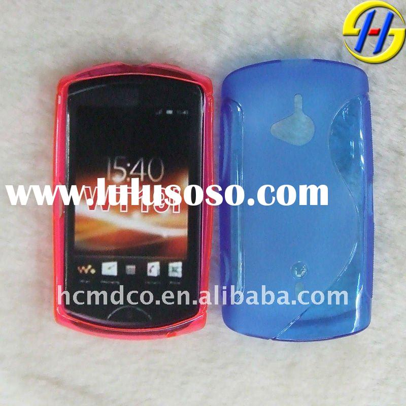 TPU mobile phone case cover for Sony-Ericsson live with walkman WT19i