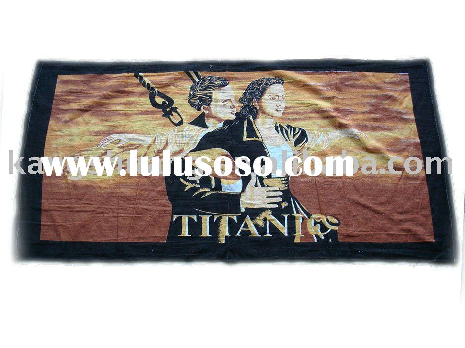 Titanic Print Beach Towel