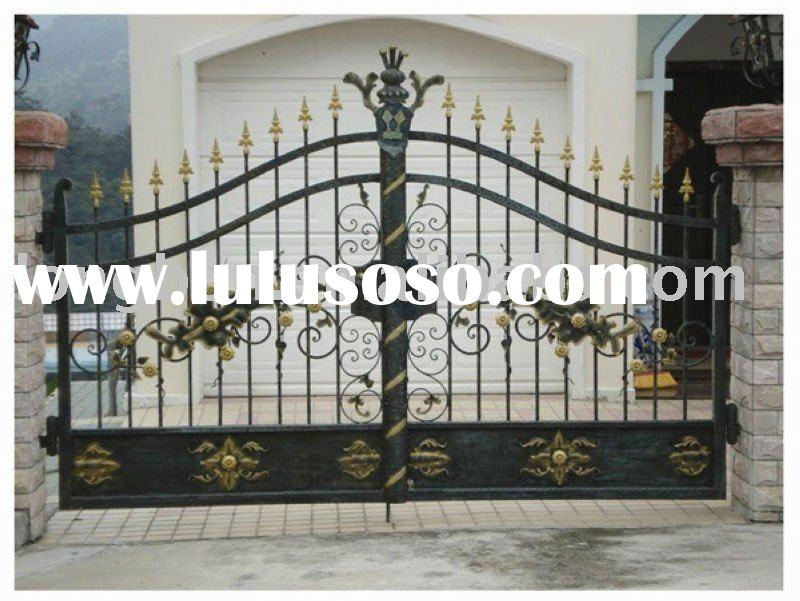 2011 Top Selling Wrought Iron House Gate Design For Homepark