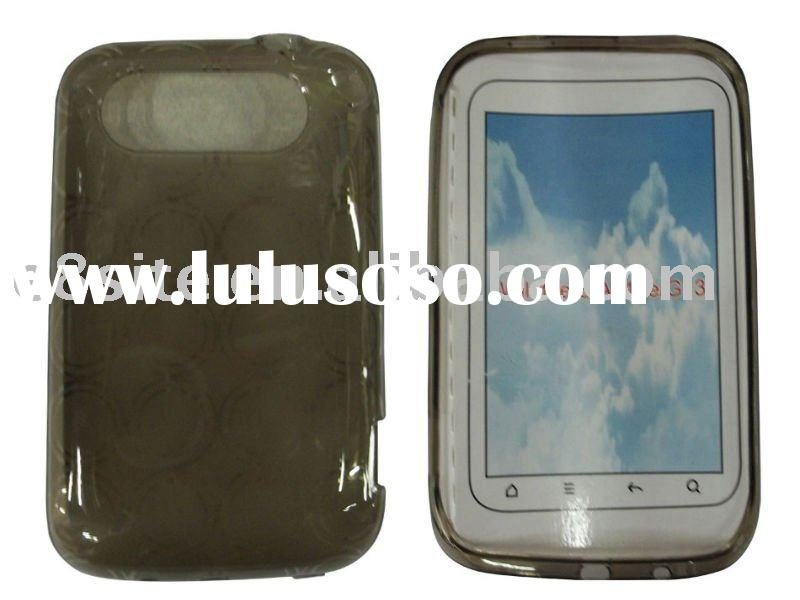 Transparent TPU Case For HTC Wildfire S A510E G13--Circle Design