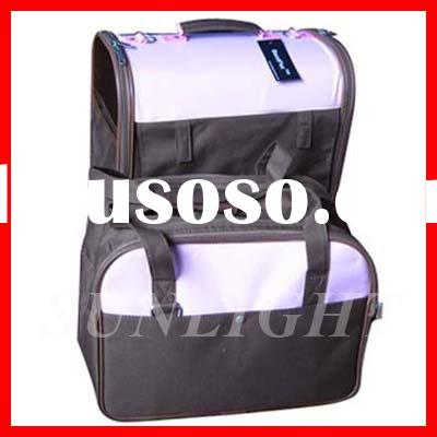 Twin Pet Carrier Dog Cat Bag Tote Purse Wheels