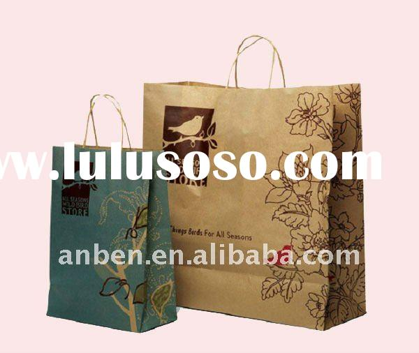 Twisted handle Kraft colored mini paper gift bags